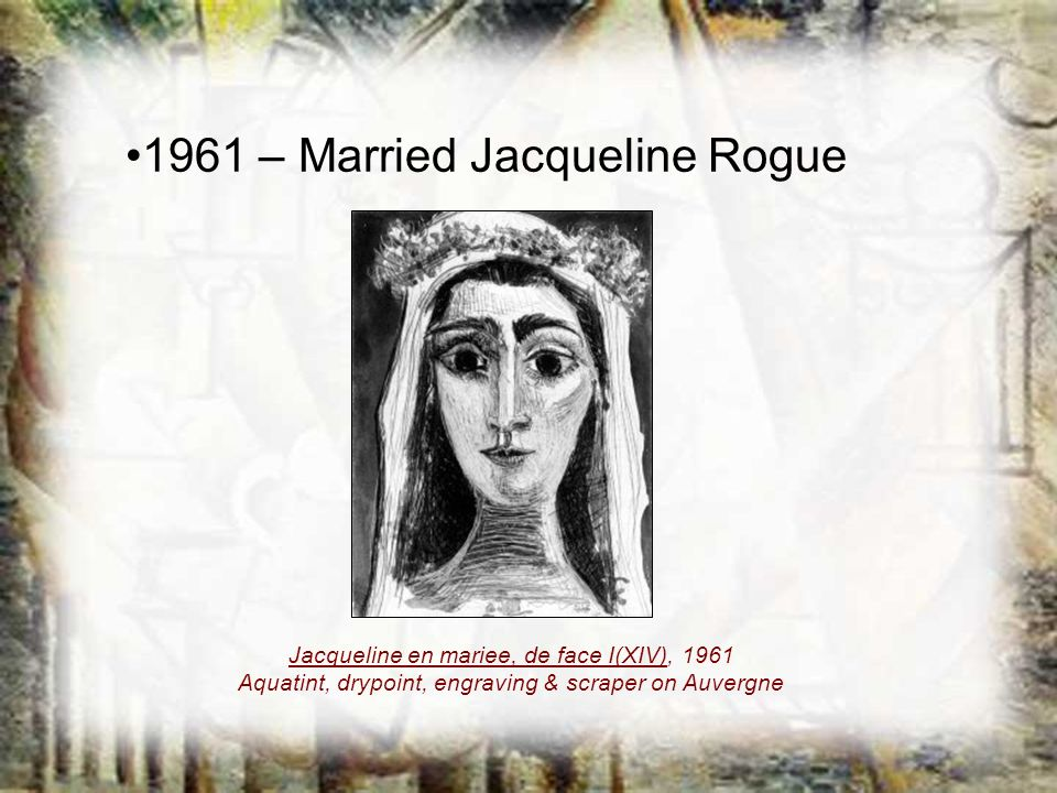 1961 – Married Jacqueline Rogue