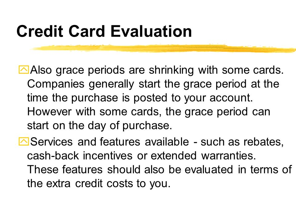 Credit Card Evaluation