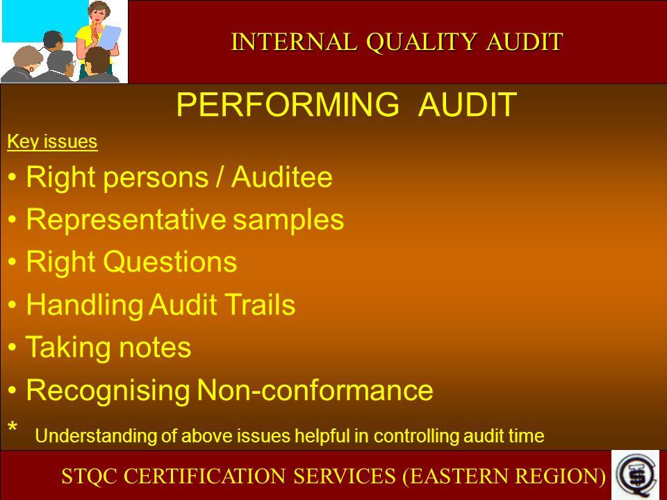 PERFORMING AUDIT Right persons / Auditee Representative samples