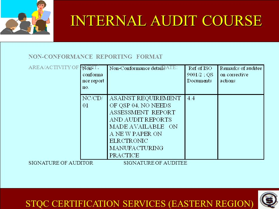 STQC CERTIFICATION SERVICES (EASTERN REGION)