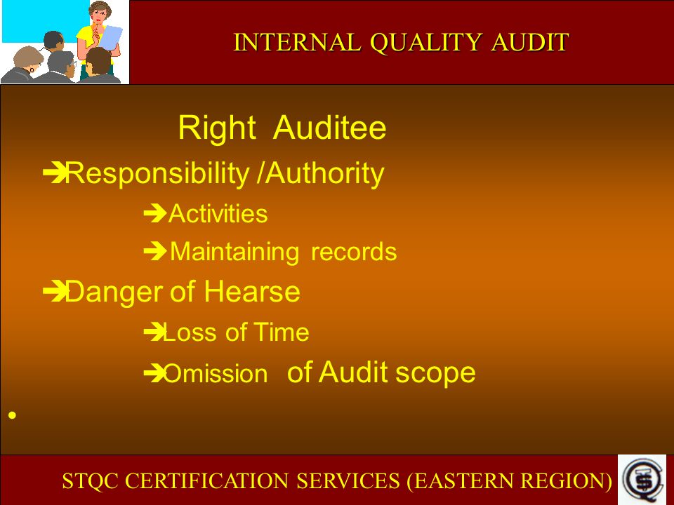 Right Auditee Responsibility /Authority Danger of Hearse