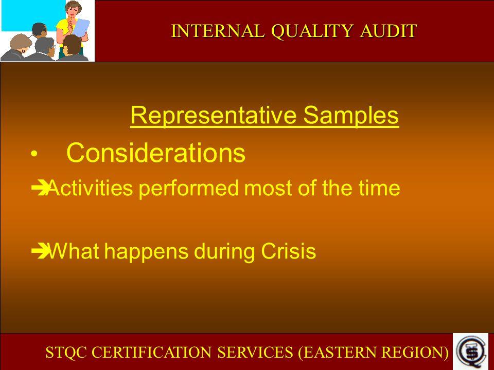 Representative Samples Considerations