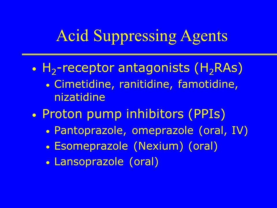 Acid Suppressing Agents