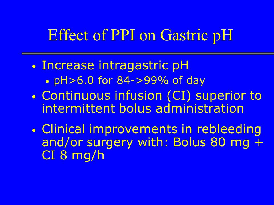 Effect of PPI on Gastric pH