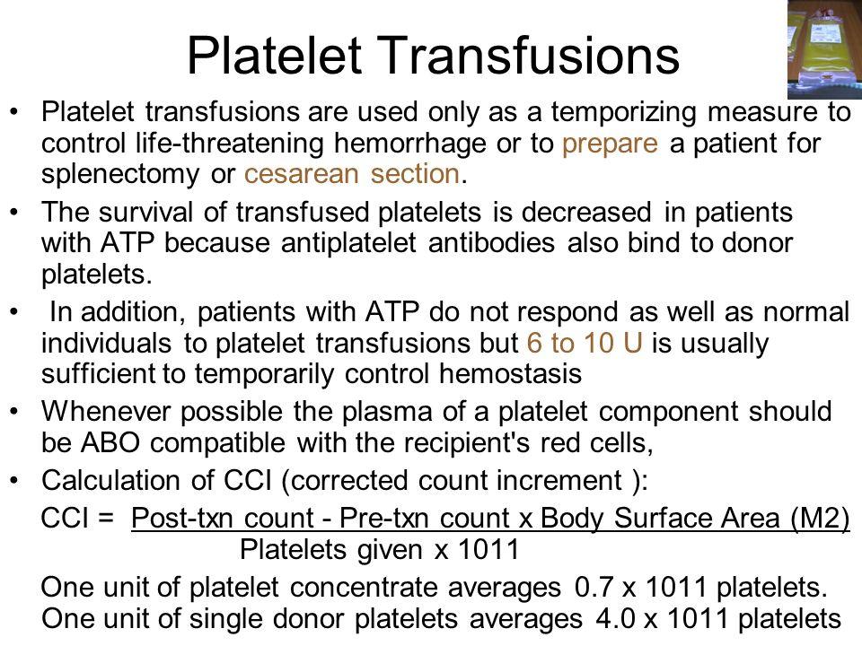 Platelet Transfusions
