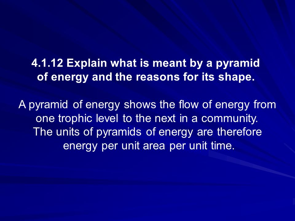 4.1.12 Explain what is meant by a pyramid