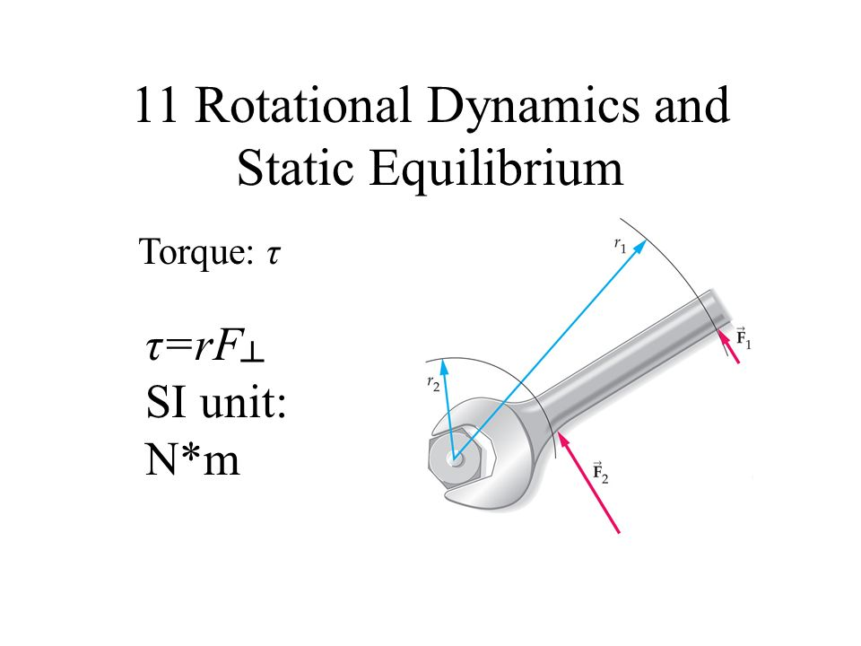 11 Rotational Dynamics and Static Equilibrium