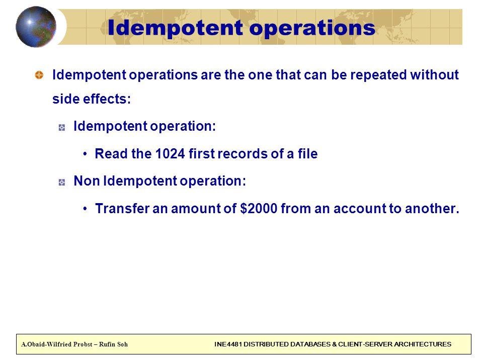 Idempotent operations