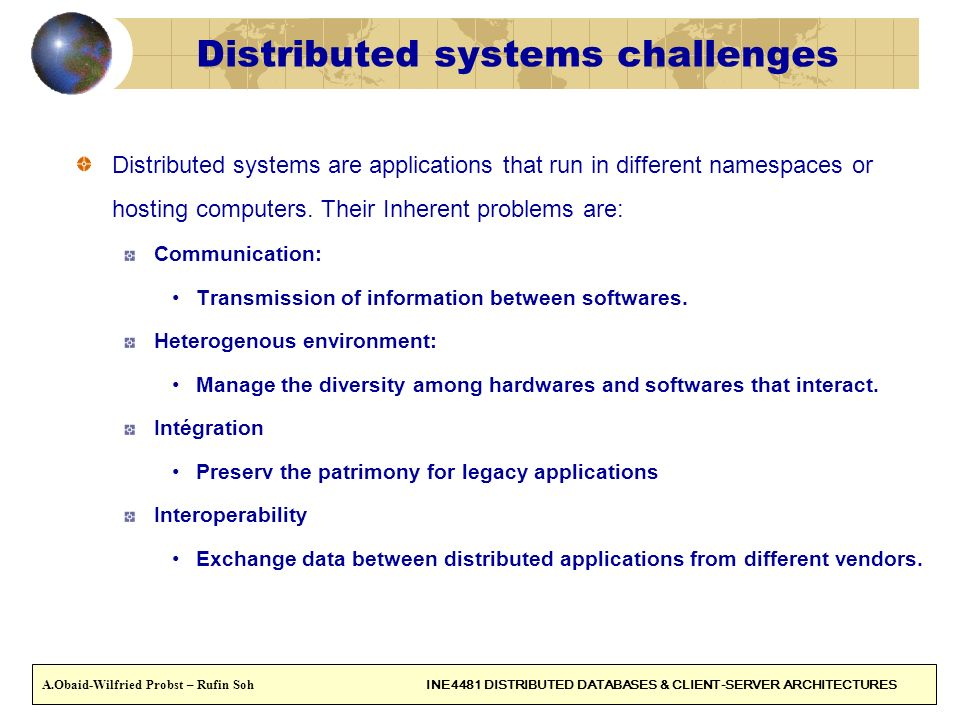 Distributed systems challenges