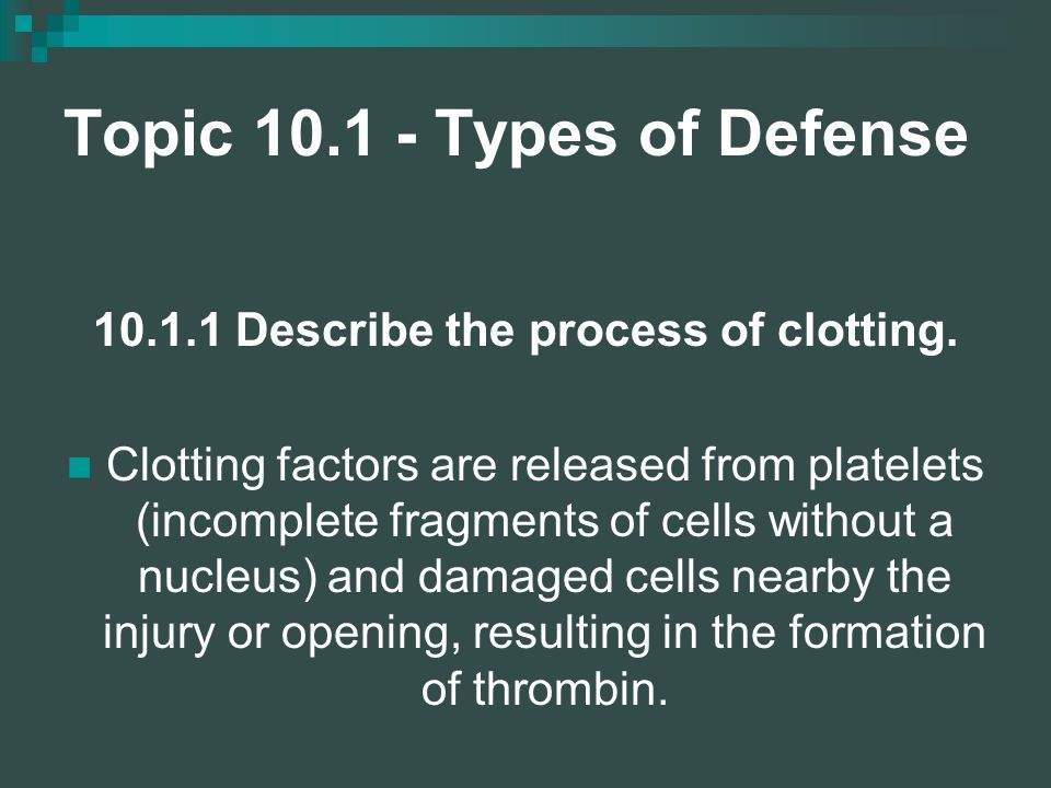 Topic 10.1 - Types of Defense