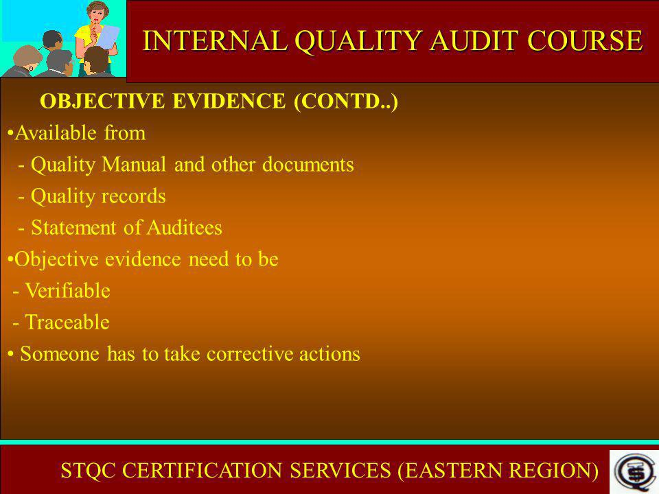 INTERNAL AUDIT COURSE INTERNAL QUALITY AUDIT COURSE