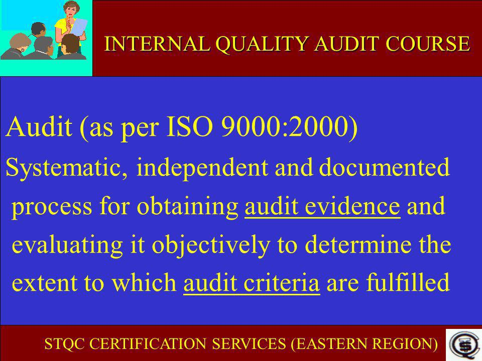 Audit (as per ISO 9000:2000) Systematic, independent and documented