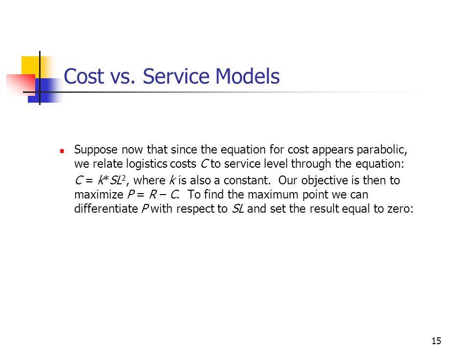 Cost vs. Service Models