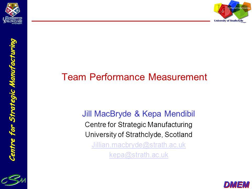 Team Performance Measurement