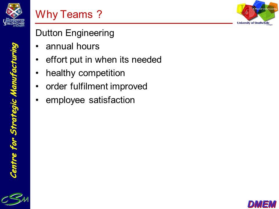 Why Teams Dutton Engineering annual hours