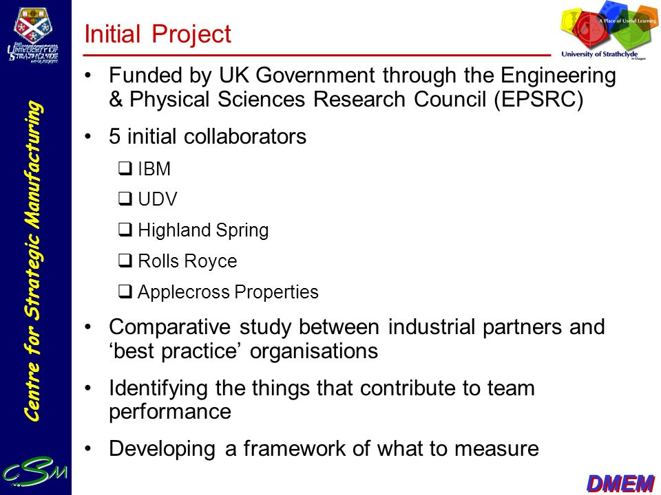 Initial Project Funded by UK Government through the Engineering & Physical Sciences Research Council (EPSRC)