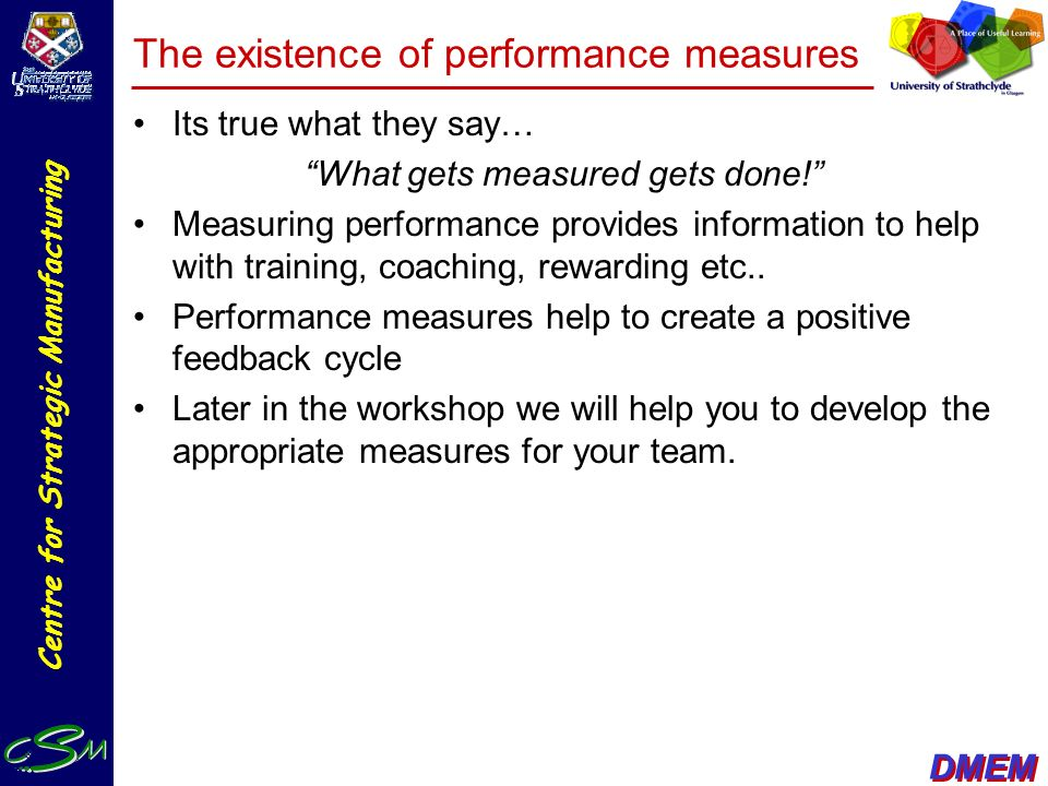 The existence of performance measures
