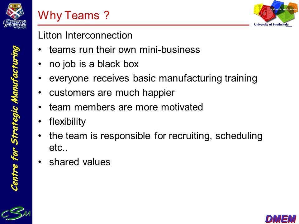 Why Teams Litton Interconnection teams run their own mini-business