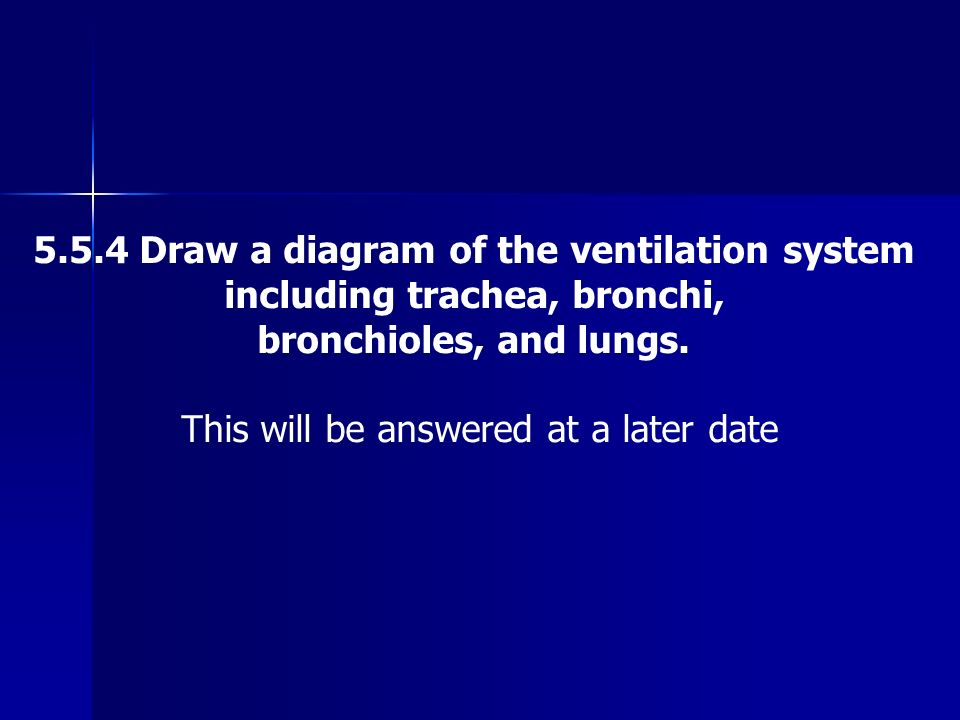 5.5.4 Draw a diagram of the ventilation system