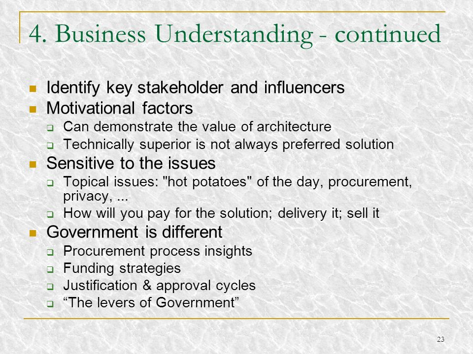 4. Business Understanding - continued