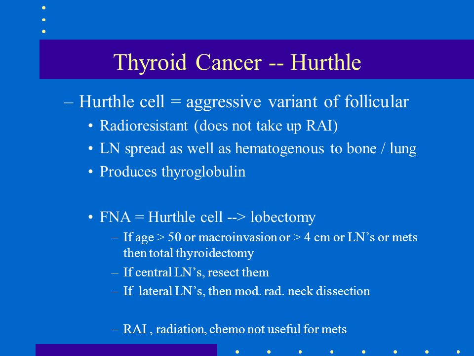 Thyroid Cancer -- Hurthle