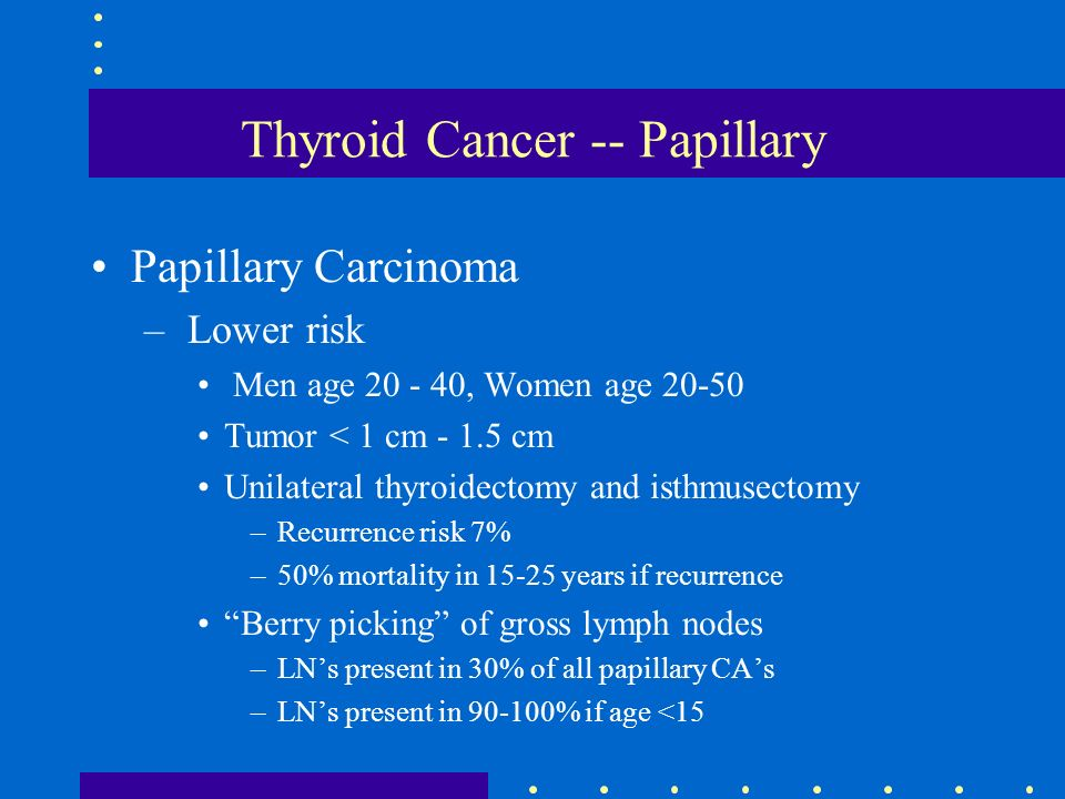 Thyroid Cancer -- Papillary