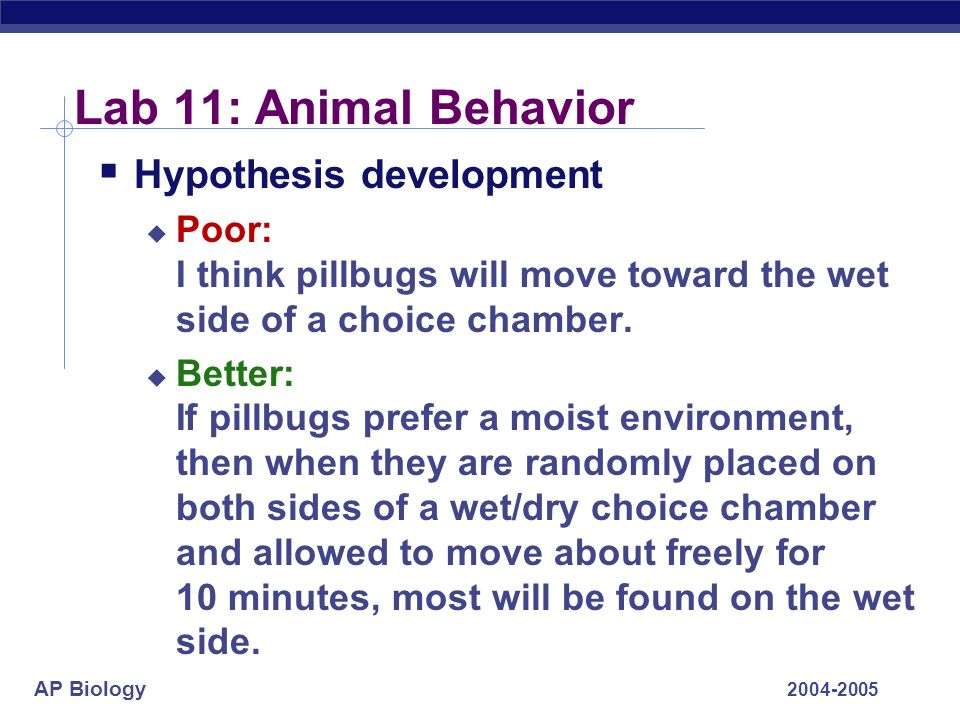 lab 11 animal behavior essay 1997 Sample apa research paper sample title  studies have been done on 9–11 year-olds (pollitt  7:30 pm in a designated computer lab on the day the deprivation.