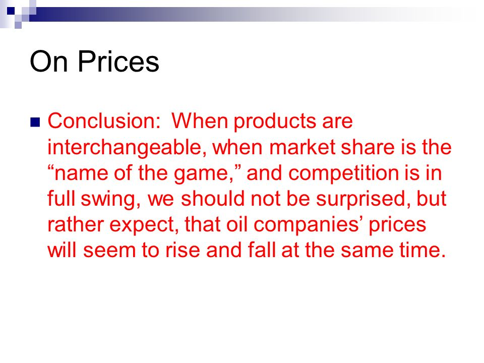 On Prices