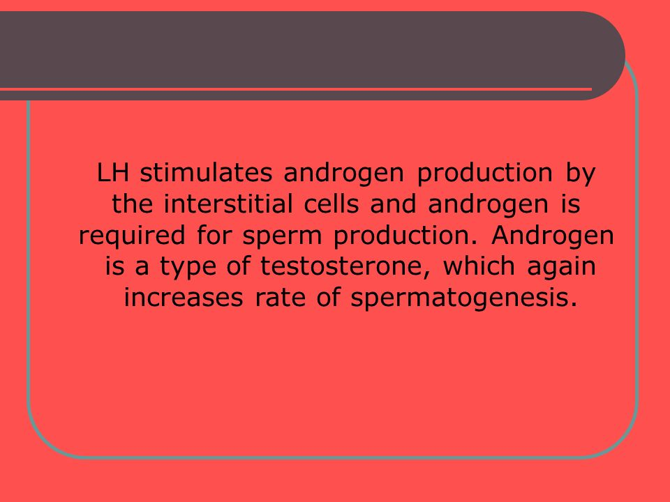 LH stimulates androgen production by