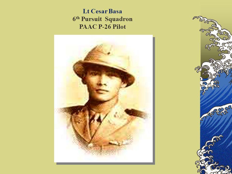 Lt Cesar Basa 6th Pursuit Squadron PAAC P-26 Pilot