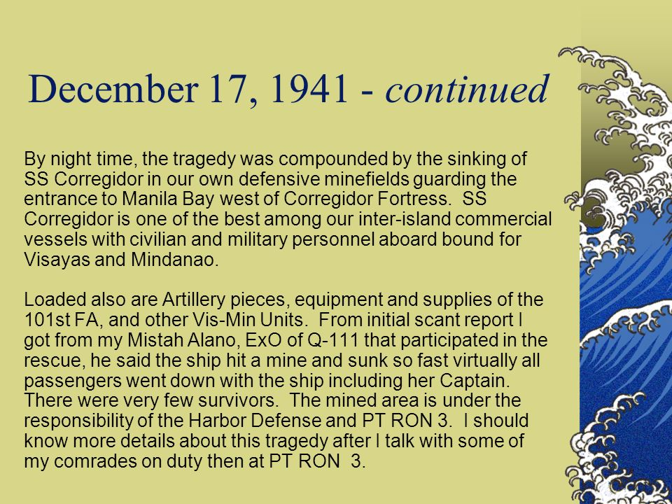 December 17, 1941 - continued