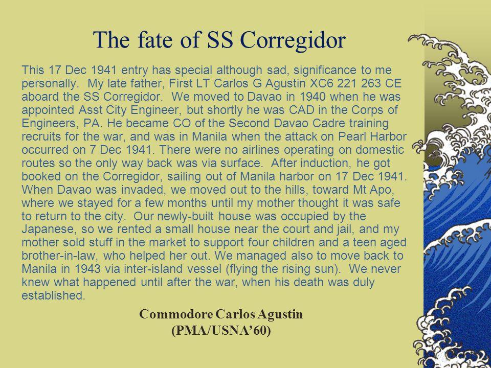 The fate of SS Corregidor