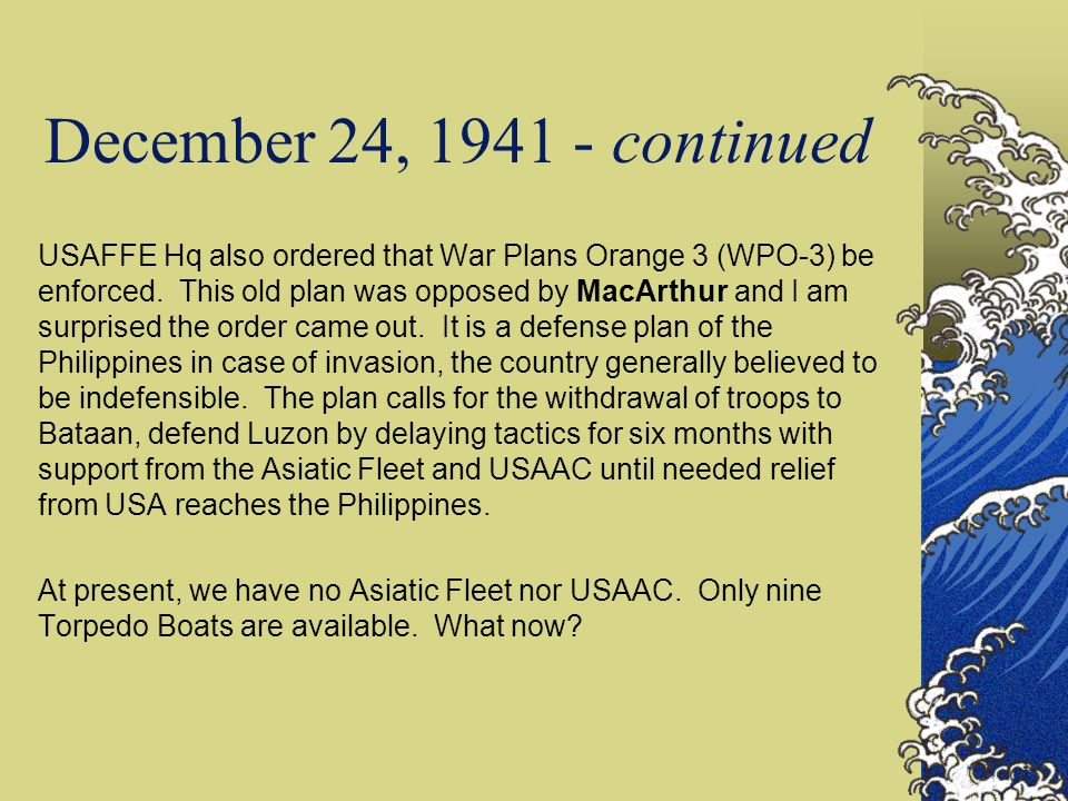 December 24, 1941 - continued