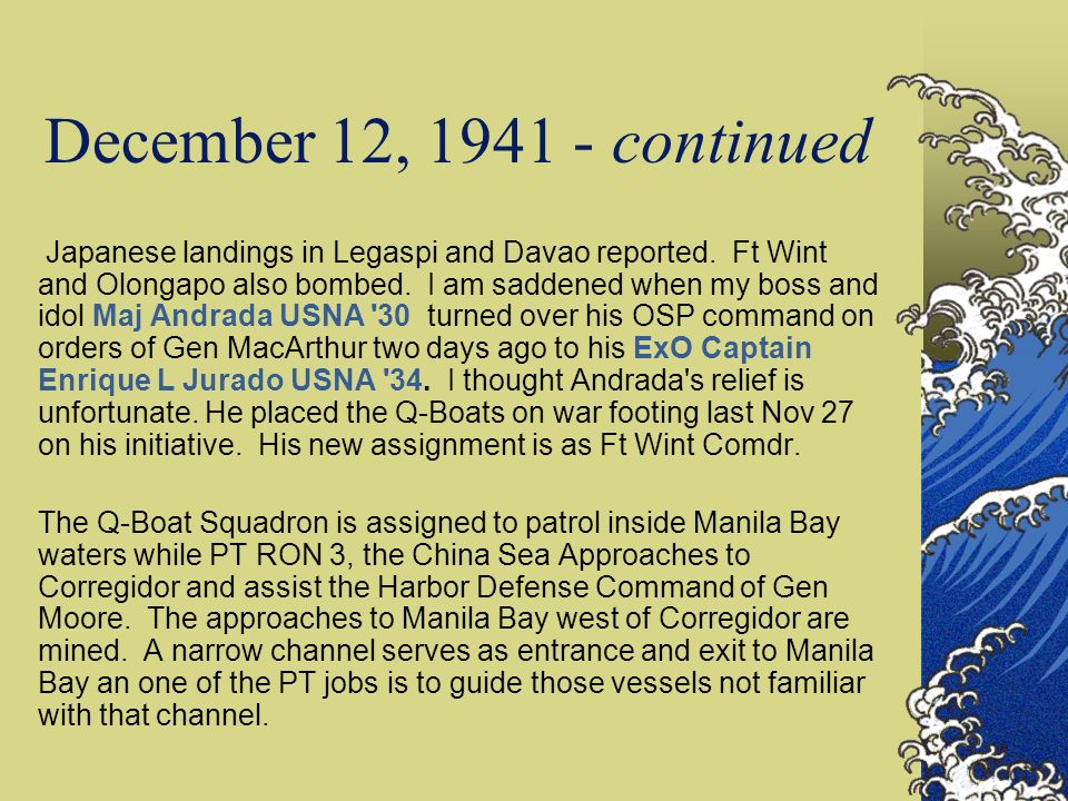 December 12, 1941 - continued
