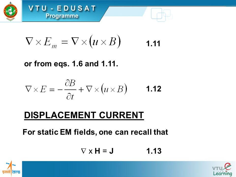 DISPLACEMENT CURRENT 1.11 or from eqs. 1.6 and