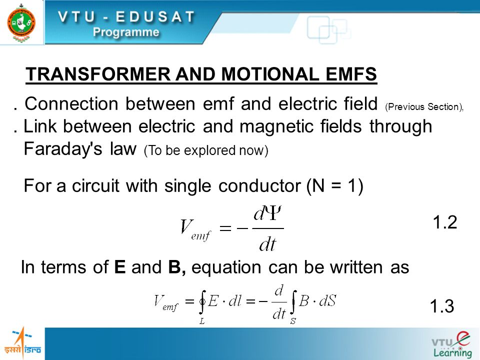 TRANSFORMER AND MOTIONAL EMFS