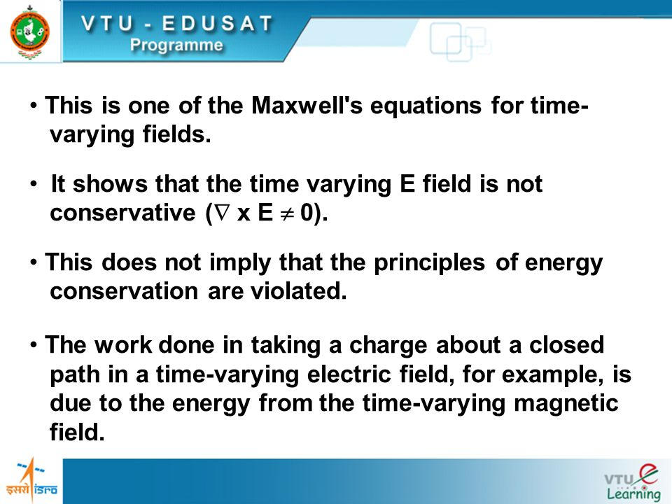 This is one of the Maxwell s equations for time-