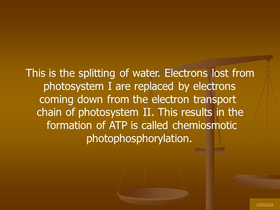 This is the splitting of water. Electrons lost from