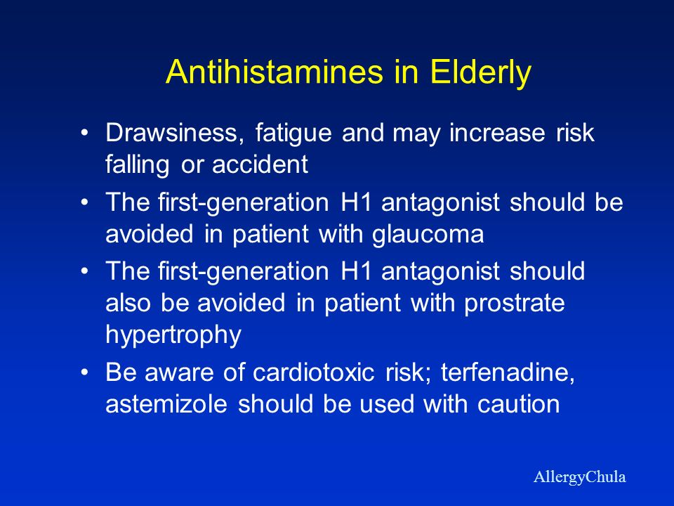 Antihistamines in Elderly