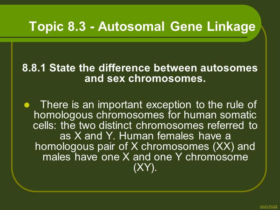 Topic Autosomal Gene Linkage