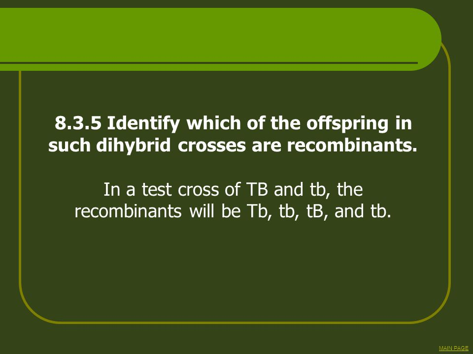 8.3.5 Identify which of the offspring in
