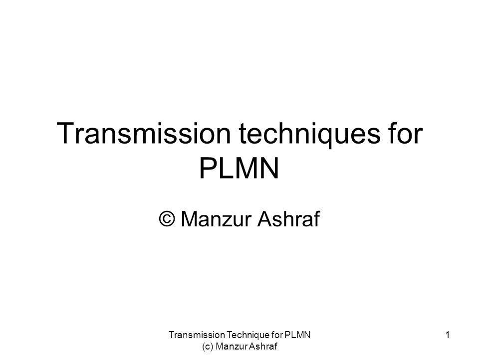 Transmission techniques for PLMN