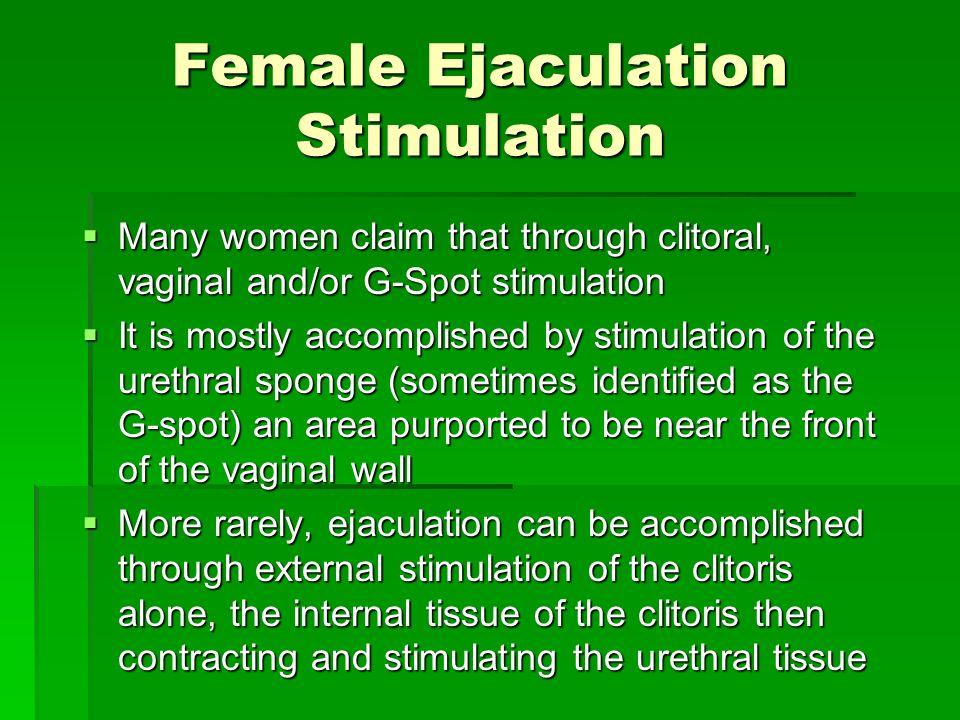 Female Ejaculation Stimulation
