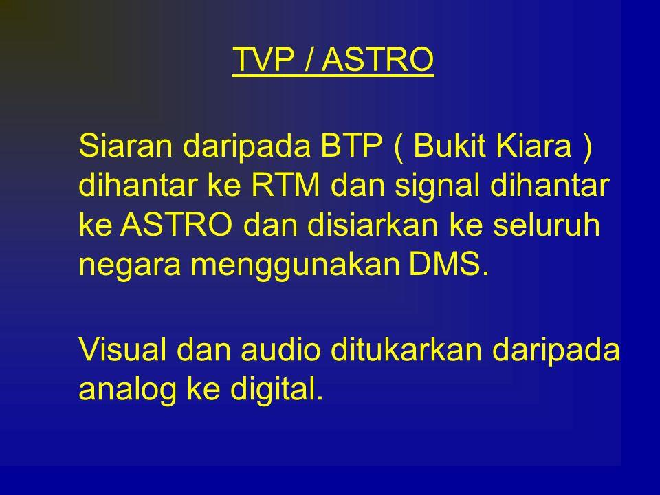 TVP / ASTRO Siaran daripada BTP ( Bukit Kiara ) dihantar ke RTM dan signal dihantar. ke ASTRO dan disiarkan ke seluruh.