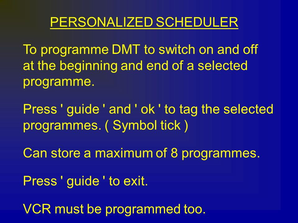 PERSONALIZED SCHEDULER