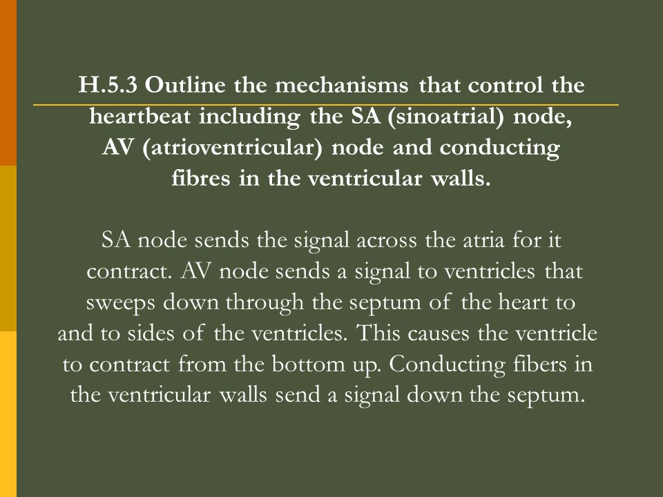 H.5.3 Outline the mechanisms that control the