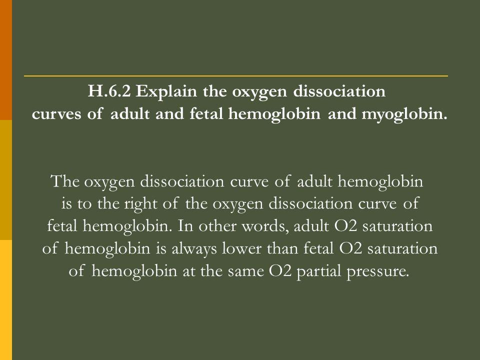 H.6.2 Explain the oxygen dissociation