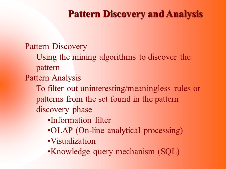 Pattern Discovery and Analysis