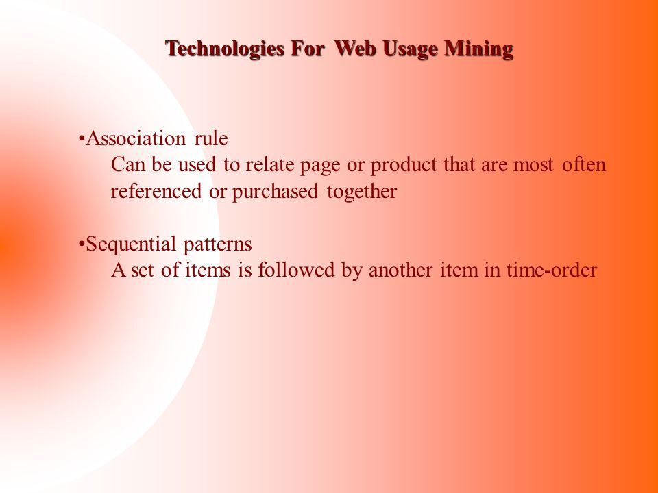 Technologies For Web Usage Mining