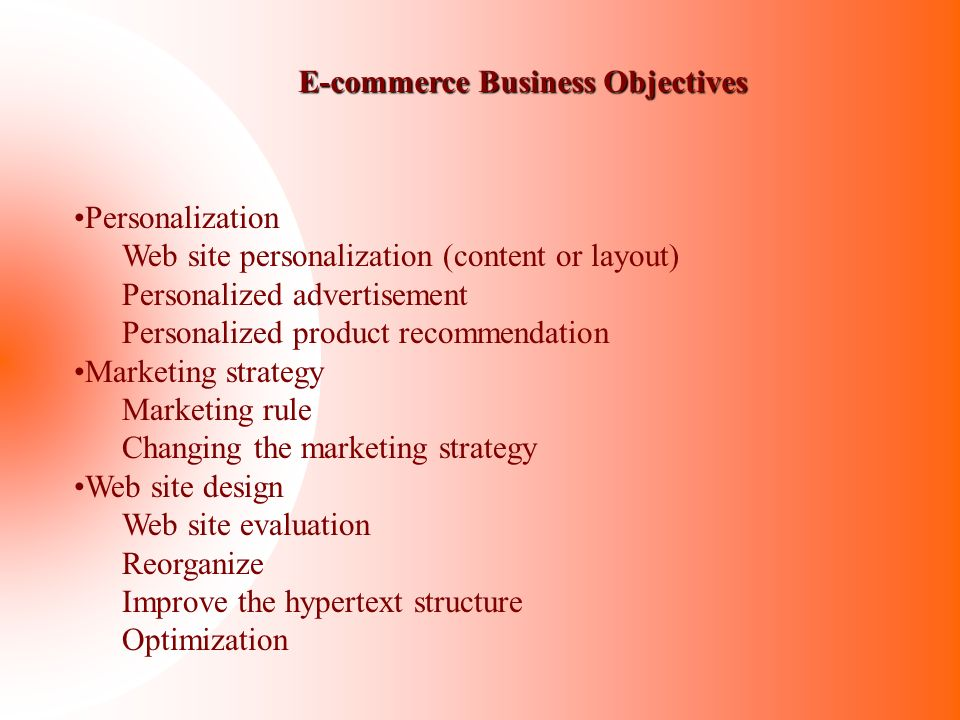 E-commerce Business Objectives